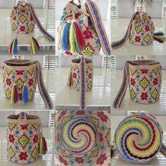 22 отметок «Нравится», 1 комментариев — Wela DD. (@wela.wayuu) в Instagram: «❤️ Wayuu bag Single thread size L ^-^ Line ; dharma.ari (WA +66991536229) #wayuu #wayuubag…» Tapestry Crochet Patterns, Tapestry Bag, Tribal Patterns, Crochet Purses, Knitted Bags, Handicraft, Crochet Projects, Purses And Bags, Diy And Crafts