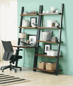 Tag Leaning Bookcase & Desk