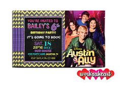 Personalized Austin and Ally Invitations