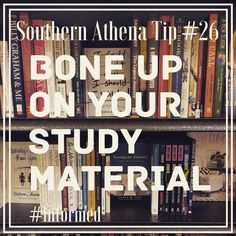 Bone up on your study material. #southernathenatips #informed #decisions make the best decisions. If you need more information prior to a transaction, we want to help get you informed to make the best, most #educated decisions for your #realestate #investing