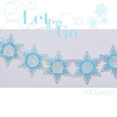 Frozen Banner or Winter Wonderland Snowflake by HOCDesignsMarket, $50.00-$95.00