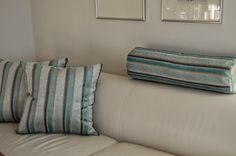 Furulunden: Gode puter til sofaen i hagelesekroken...