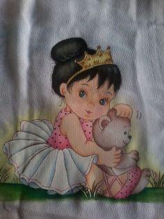 Pintura em tecido | boneca | Bailarina | infantil | bebês