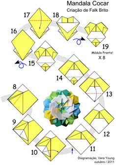 Uma MANDALA de Origami e Frutas para o Reveillon! | Coisas de Pano e Papel