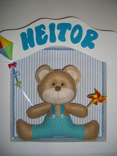 enfeite porta maternidade urso