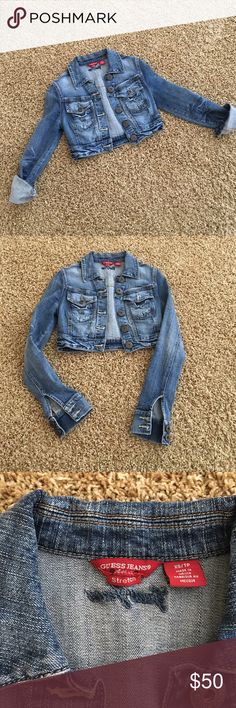 GUESS cropped denim jacket Great condition Guess Jeans