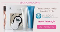 Gagnez l'un des 2 packs de 3 produits beauté nu Skin
