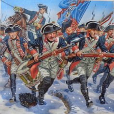 Prinz von Preussen, charge into combat. The snow suggests Leuthen to me - the regiment was present on the Prussian right flank. The artist isGiuseppe Rava