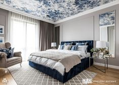 Dom pod Poznaniem - Duża szara sypialnia małżeńska, styl nowojorski - zdjęcie od SAS Wnętrza i Kuchnie - homebook Hamptons Bedroom, New Hampton, Master Bedroom, Bedroom Decor, Flat Ideas, Home Interior, Home Decor Inspiration, The Hamptons, Paint Colors