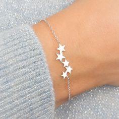 Stylish Jewelry, Simple Jewelry, Cute Jewelry, Fashion Jewelry, Silver Bracelets For Women, Cute Bracelets, Sterling Silver Bracelets, Silver Ring, Silver Earrings