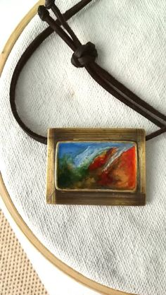 Hand made pendant painted with enamels. Black Choker, Gifts For Her, Unique Gifts, Wax, My Etsy Shop, Chokers, Enamel, Miniatures, Bronze