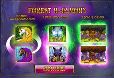 FOREST HARMONY  Jouez Forest Harmony, tentez le jackpot en profitant de votre casino en ligne. Retrouvez votre machine a sous gratuite sans telechargement en francais et les centaines d'autres jeux exceptionnels.