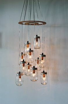 Hey, I found this really awesome Etsy listing at https://www.etsy.com/listing/160360842/mason-jar-cluster-chandelier-upcycled