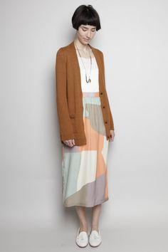 DUSEN DUSEN - Long Silk Skirt