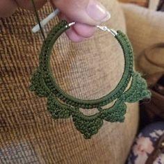 ONE Crochet Earrings Pattern, Crochet Earring Pattern, PDF File - Crochet Square-Shaped Earrings - PDF, easy pattern for beginners Crochet Earrings Pattern, Crochet Necklace, Crochet Patterns, Crochet Butterfly, Crochet Triangle, Crochet Gifts, Crochet Hooks, Dragon En Crochet, Bikini Crochet