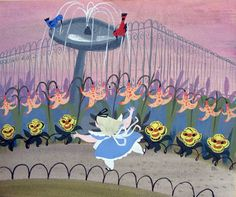 "Mary Blair concept art for Walt Disney's ""Alice In Wonderland"" Art Disney, Disney Artists, Disney Concept Art, Disney Magic, Disney Parks, Mary Blair, Cinderella Drawing, Glenn Arthur, Disney Insider"