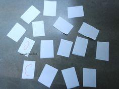 Activité/DIY : Un jeu de mémo en papier, facile et rapide à faire avec les…