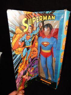 "Mego Corp 1977 Superman 12"" Action Figure w/ Original Box  RARE #Mego"