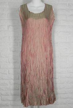 LEE ANDERSEN Crushed Dress Tea Length Crinkle Holiday Wedding Renoir NWT S #LeeAndersen #TeaDress #Formal