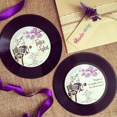 Plak davetiye / Record wedding invitation www.masalsiatolye.com #masalsiatolye…