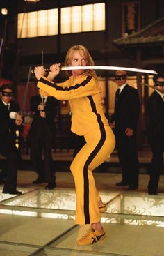Uma Thurman - Kill Bill (I have that outfit LOL)