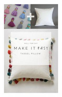 Make it Easy | Anthropology Tassel Pillow | Fall For DIY