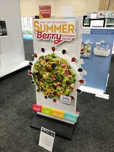 Wendy's 'Summer Berry' Free Standing Unit - Looking to get noticed with your point of sale display in a busy, fast-paced retail environment? Increase confidence in your sales with www.popthis.com.au