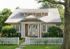 White picket fence an all.
