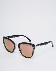 b767bfcffe46 Quay Australia My Girl Mirror Cat Eye Sunglasses with Pink Lenses at  asos.com