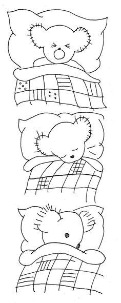 riscos para bordar - ursos - pinterest - Pesquisa Google