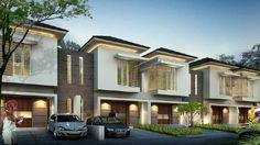 Foto Row House Design, Duplex Design, Apartment Design, Modern House Design, Modern Bungalow, Residential Complex, Interesting Buildings, Mansions Homes, Building Facade