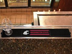 "NCAA Washington State University Drink Mat, 3.25"" x 24""/Small, Black"