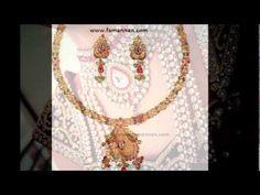 Ruby Diamond Gold Fashion Jewellery Necklace