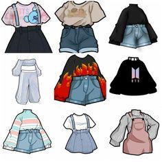 Teen Fashion Outfits, Anime Outfits, Mode Outfits, Fashion Art, Fashion Design Drawings, Fashion Sketches, Kleidung Design, Mode Kpop, Fashion Drawing Dresses