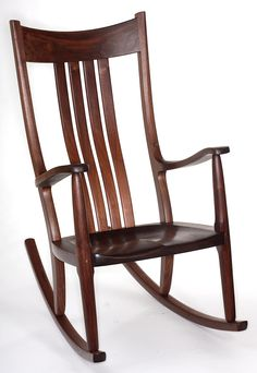 The Weeks Walnut Rocking Chair In Large Format.