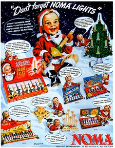 1948 Noma Christmas Lights Vintage Advertisement Christmas Wall Art Holiday Decor Christmas Decoration Original Magazine Ad by RelicEclectic on Etsy Noma Christmas Lights, Vintage Christmas Lights, 1950s Christmas, Vintage Christmas Images, Vintage Ornaments, Vintage Holiday, Christmas Adverts, Xmas Lights, Bubble Christmas