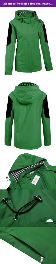 Meaneor Women's Hooded Waterproof Jacket Softshell Women Sportswear Green XL. Measurements: 1. Use similar clothing to compare with the size. 2. Choose One Size Larger if you want loose fitting. US Size S---Shoulder---43.5cm/16.965inch;Sleeve---60cm/23.4inch;Chest---105cm/40.95inch;Waist---99cm/38.61inch;Middle Back Length---67/26.13; US Size M---Shoulder---45cm/17.55inch;Sleeve---61cm/23.79inch;Chest---110cm/42.9inch;Waist---104cm/40.56inch;Middle Back Length---69/26.91; US Size...