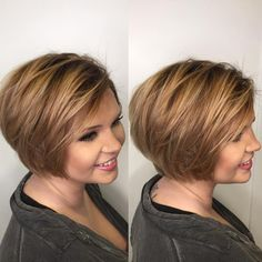 Dark Honey Blonde Pixie Bob A layered, side-parted pixie bob is another appealing . Hairstyles For Fat Faces, Bob Haircuts For Women, Best Short Haircuts, Short Hairstyles For Women, Hairstyles Haircuts, Popular Hairstyles, Trendy Hairstyles, Pixie Haircuts, Layered Haircuts
