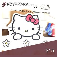 Hello Kitty key or towel holder (has 4 pegs) Too cute!  Never used Hello Kitty key or towel holder for kids or adults!!  Comes with attached mount on backside. Other