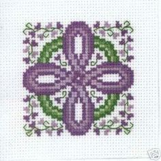Claddagh Cross Stitch Celtic Lavender Cross Pattern by Cherylstitches