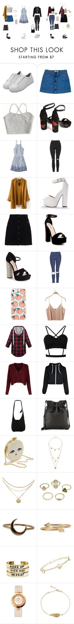 """""""// luz cardoso //"""" by giihbms on Polyvore featuring moda, See by Chloé, American Eagle Outfitters, Hollister Co., Topshop, Superdry, Steve Madden, Miu Miu, The Ragged Priest e WithChic"""