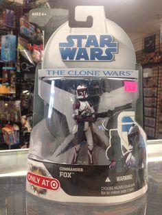 Hasbro Star Wars The Clone Wars Commander Fox Target Exclusive