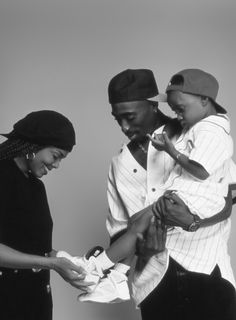 Janet and 2Pac on the set of Poetic Justice 1993
