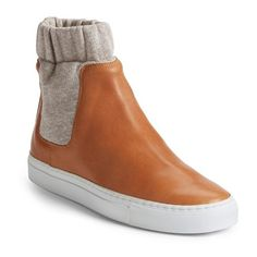 MM6 Maison Margiela High Top Slip-On Sneaker featuring polyvore, fashion, shoes, sneakers, leather slip on sneakers, leather trainers, sports trainer, sport sneakers and leather slip on shoes
