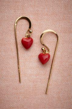 Scarlet Crush Earrings by Les Nereides #Earrings #Heart