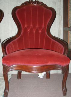Red Victorian Chairs (x3 [one is darker red]) (dungeon)