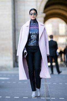 Paris Fashion Week, Day 3: Caroline Issa wearing Dior.