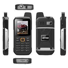 CECTDIGI F8 Dual Sim Unlocked Cell Phone PTT Walkie Talkie Phone 3000mah Battery Power Bank Waterproof IP67 Rugged Phone (Black) #UnlockedCellPhones