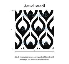 "Small Pattern Stencil for Your Painting Ideas (11"" x 11"")"