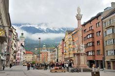 Townscape of Innsbruck, Austria. | Amazing Photography Of Cities and Famous Landmarks From Around The World Innsbruck, Salzburg, Places To Travel, Places To See, Travel Around The World, Around The Worlds, Famous Landmarks, By Train, Future Travel